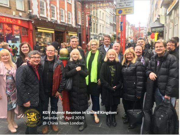 KGV Alumni met up in UK for Dim Sum.