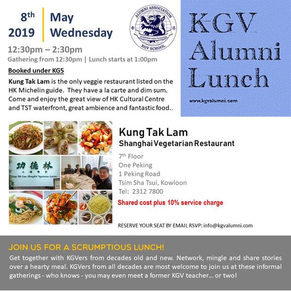 KGV Alumni Lunch - 8th May 2019