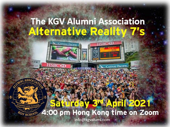 No Hong Kong Sevens!!! No Problem!!!  Come join us on the KGVAA Alternative Reality 7's Zoom!!