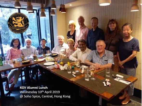 KGV Alumni Lunch - 10 April 2019