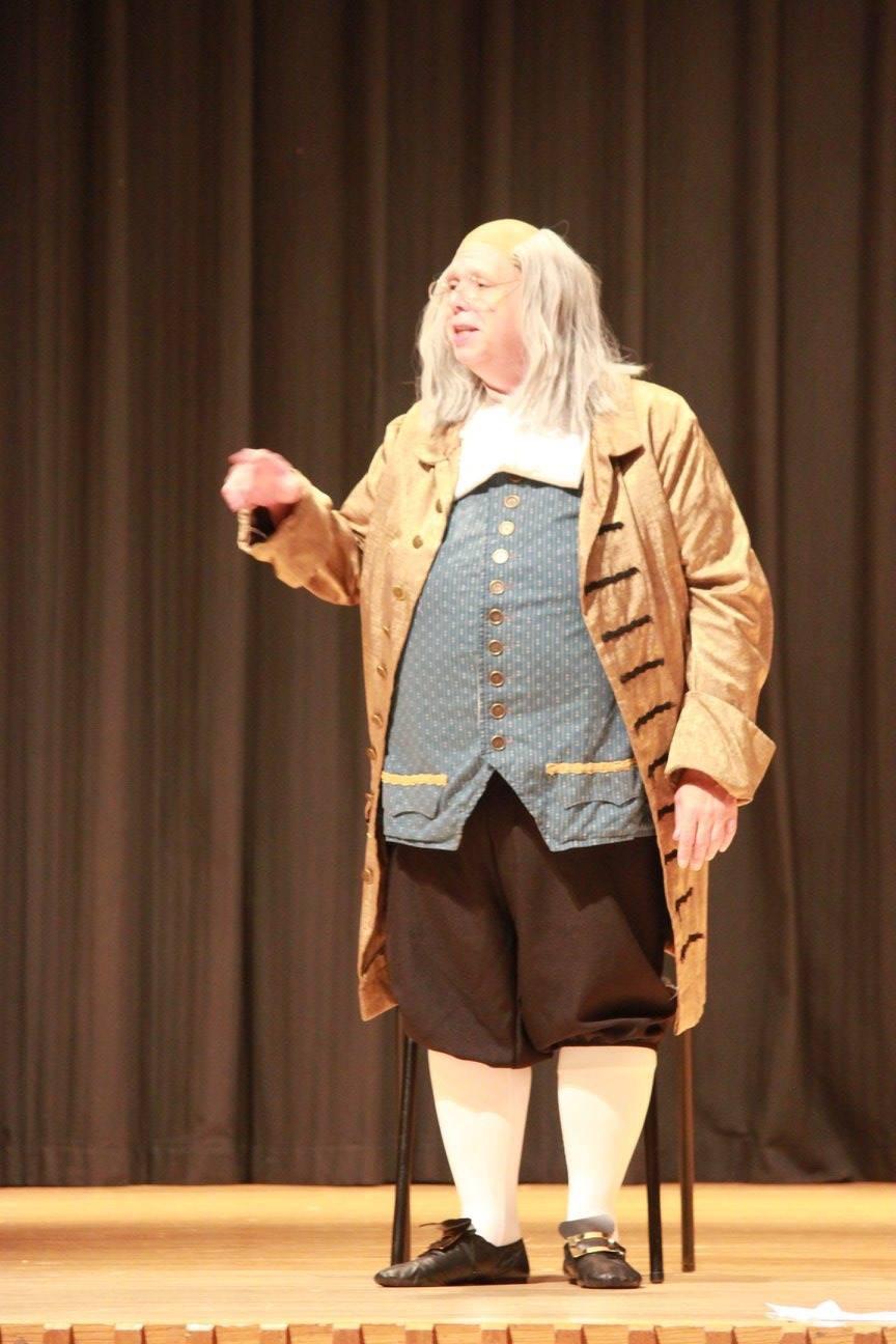 Robert Forester as Benjamin Franklin