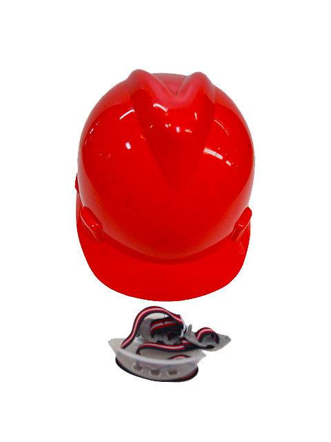 Casco ABS 4 Puntos de Apoyo Barbuquejo Rojo