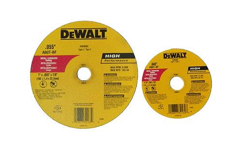 Disco Corte Metal Inox DeWalt 4.5 Y 7