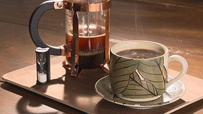 フレンチプレスコーヒー ¥600(税込)~ ※季節によって種類が変わります。