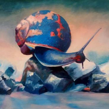 """Nelya Hapchyn """"Colourful Snail"""""""