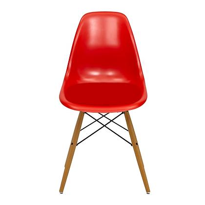 Silla Eames Molded con Cojín Rojo