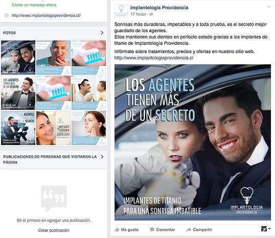Facebook profile, screenshot
