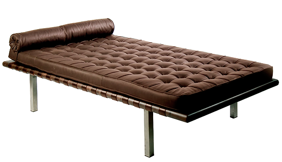 Chaise Longue Barcelona Ecocuero Chocolate