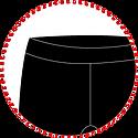 pretina, elasticado, cintura, tiro, poliester, primera capa
