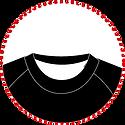 cuello , redondo , costuras, primera capa, poliester