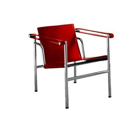 Silla Le Corbusier Cuero Rojo
