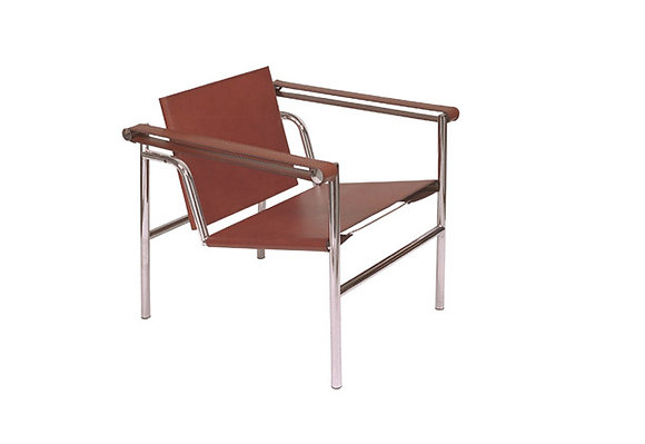 Silla Le Corbusier Cuero Chocolate