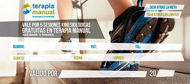 Terapia Manual diseño cupon