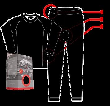 poliéster, primera capa, top, costuras, reforzadas, tiro, cuello, pretina