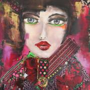 La dame au manteau rose