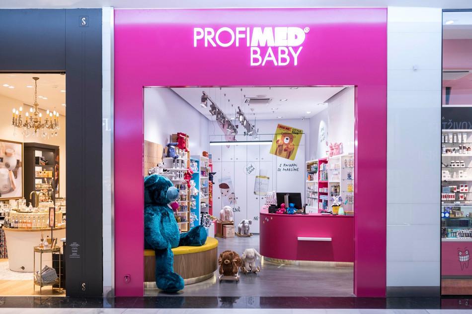 Návrh interiéru prodejny Profimed Baby