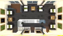 Návrh interiéru bistra