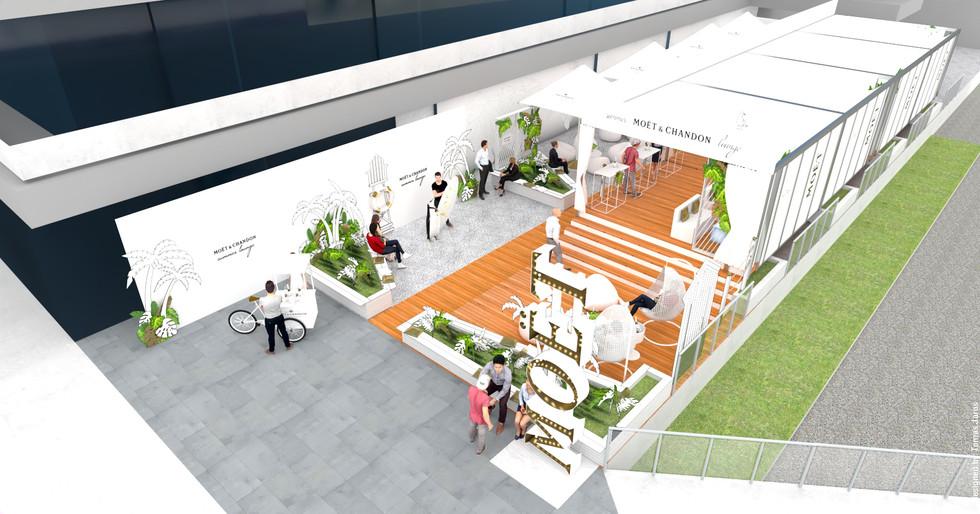 Promo zóna, Festival, Lounge, Návrh, Design, Designer, Jaroš, New wave,  Event management, Set-Up, Akce, Scénograf, Architekt, Moët & Chandon, KVIFF, Filmový festival Karlovy Vary, Moet