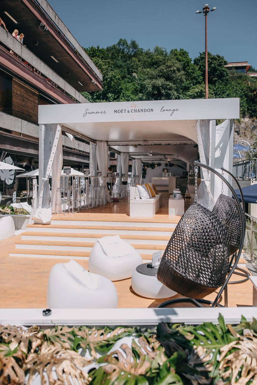 Promo zóna, Festival, Lounge, Návrh, Design, Designer, Jaroš, New wave, Scénograf, Architekt, Moët & Chandon, KVIFF, Filmový festival Karlovy Vary, Moet
