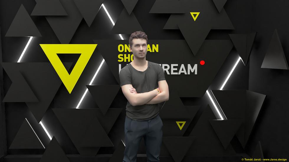 OMS, One man show, Live stream studio, Design, Architekt, Architect, Kazma, Broadcast, Dekorace, Kulisy, TV, Online, Internet, Tomas Jaros,