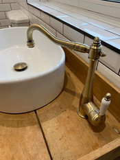 Rustic style basin and tap