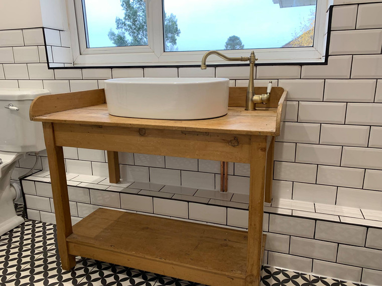 Rustic traditional basin and tap