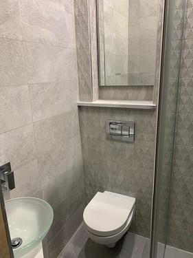 Space saving toilet