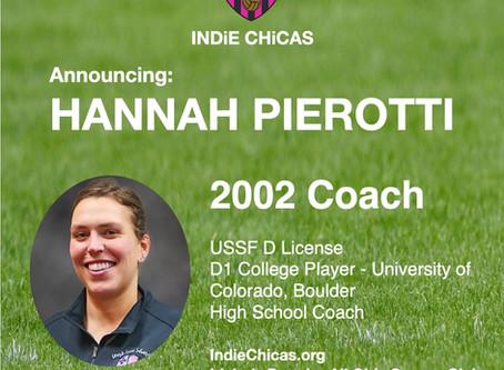 Hannah Pierotti, Coach 2002