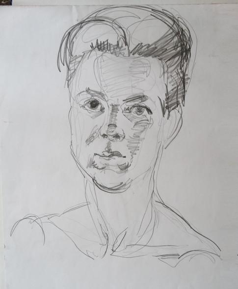 набросок, портрет