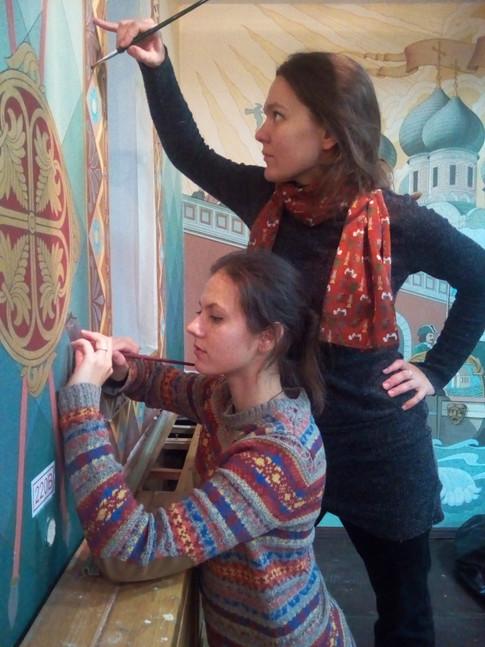 восстанавливаем росписи Измайловский Кремль