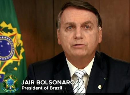 Bolsonaro fala sobre explorar natureza e omite queimadas em discurso na ONU