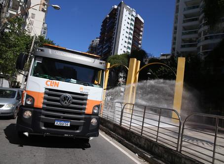 Ruas de Niterói recebem novo ciclo de sanitização