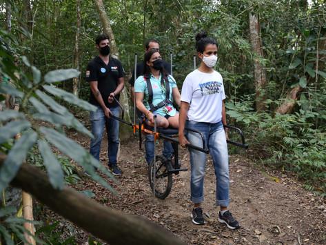 Neltur promove passeios inclusivos nas trilhas Platôs e Caminho de Darwin