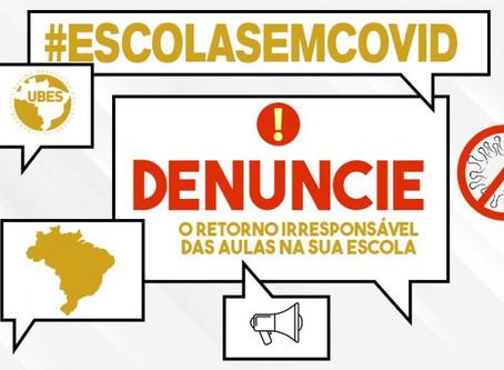 """UBES lança campanha """"Escola sem Covid"""""""