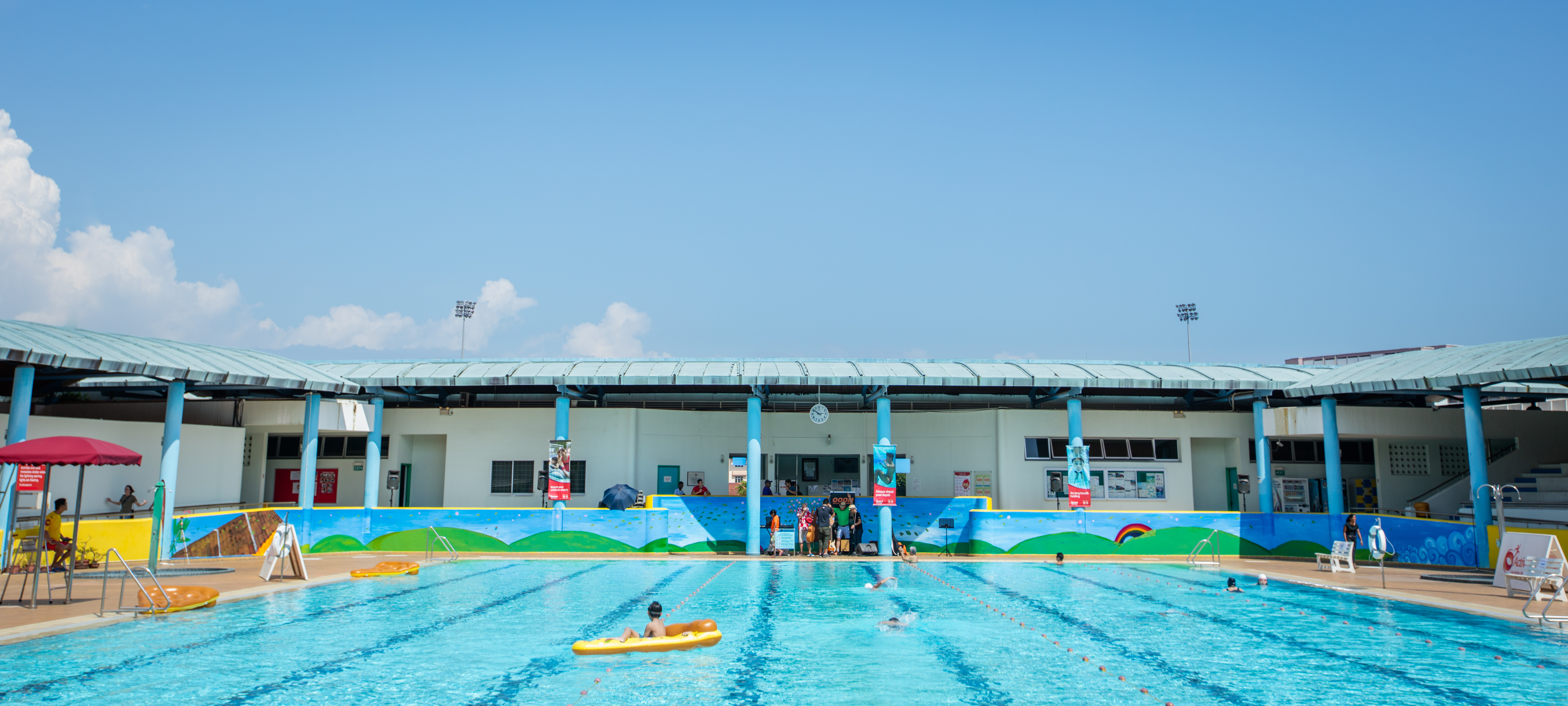 Serangoon Swimming Complex Mural