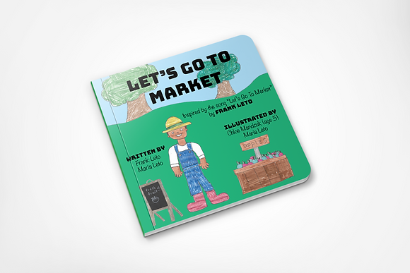 Let's Go To Market Children's Board Book