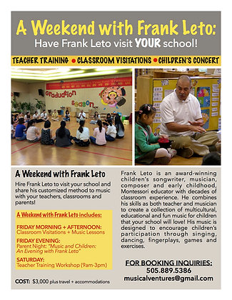 A Weekend with Frank Leto at YOUR School