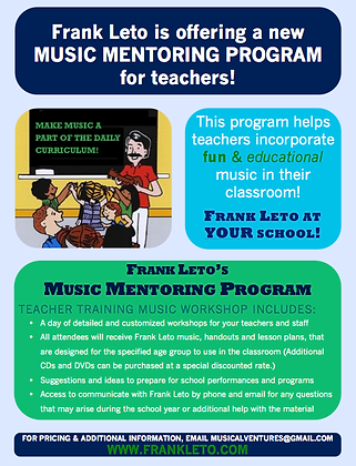 Frank Leto in Your Classroom