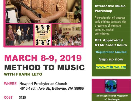 Frank Leto's Method to Music Workshop Coming to Bellevue, Washington
