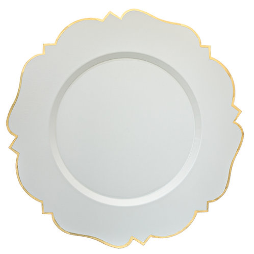 "14"" Abbey Taupe/Grey Charger Plate"