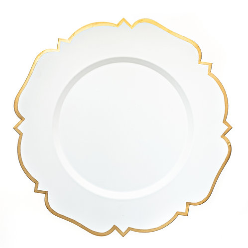 """14"""" Abbey White Charger Plate"""