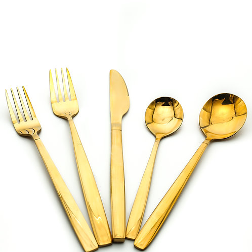 Titanium Gold Plated Flatware Set