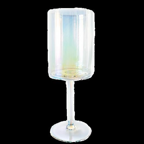 Modern Iridescent Wine Glass
