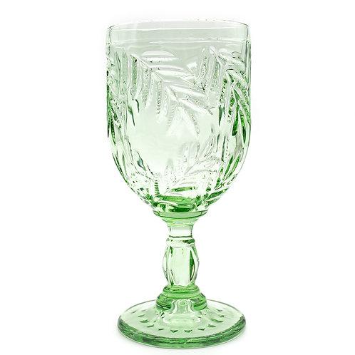 Vintage Glass Goblet - Mint Green