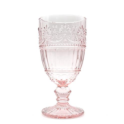 Vintage Glass Goblet - Pink