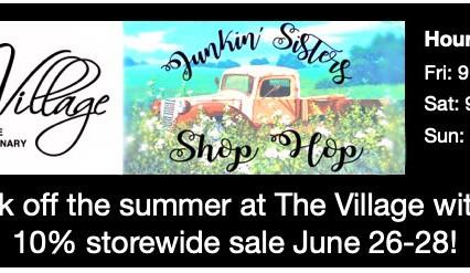 Junkin' Sisters Shop Hop 2020
