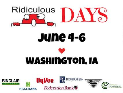 Ridiculous Days, June 4, 5 & 6