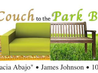 Sofá al banco del parque: movilidad hacia abajo