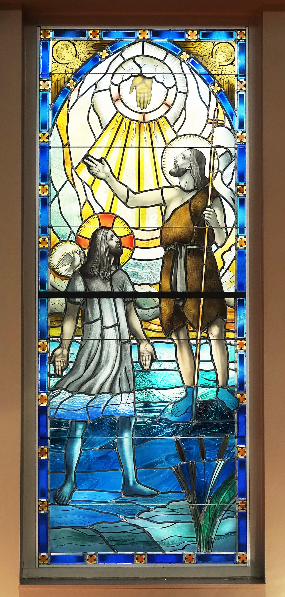 Baptism of the Lord Stained Glass Window