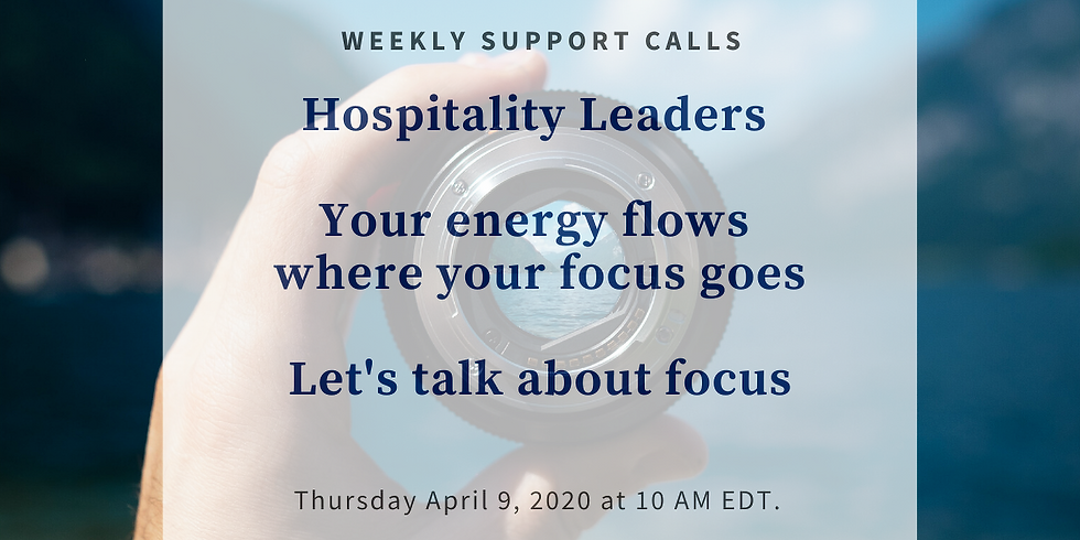 Weekly Support Call #3 - Hospitality Leaders